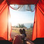 TAKE FIVE Person in Camping Tent in Nature
