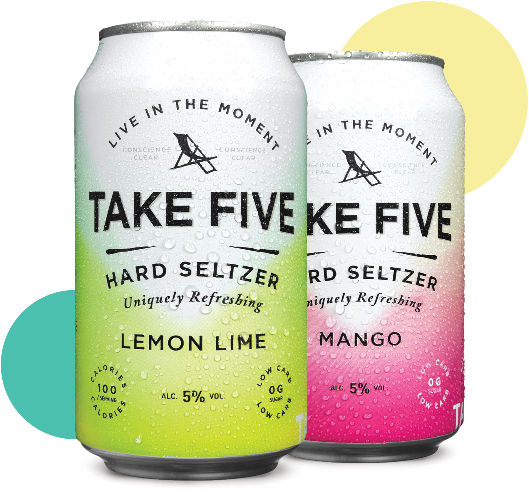TAKE FIVE cans